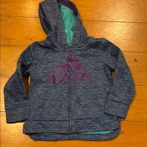 2t girls zip-up hoodie